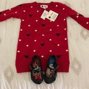 Gap Disney Dress, Mini Melissa Minnie Shoes